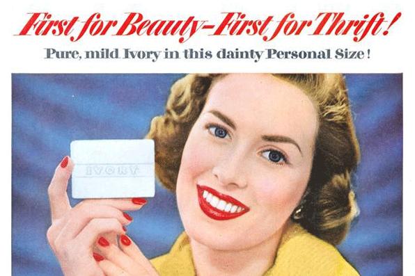 Dès 1882, Procter consacre 11 000 dollars à promouvoir son savon en inventant la publicité de masse.